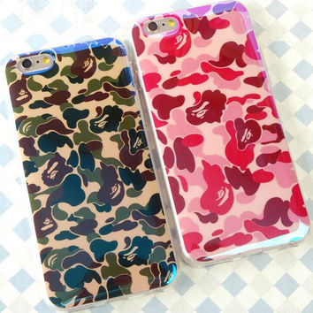 Camouflage couple mobile phone case for iPhone 7 7 plus iphone 5 5s SE 6 6s 6 plus 6s plus + Nice gift box 71501