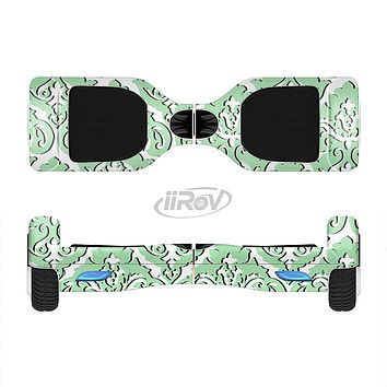 The Mint & White Delicate Pattern Full-Body Skin Set for the Smart Drifting SuperCharged iiRov HoverBoard