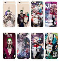 Hot!Phone Cases Margot Robbie Harley Quinn Suicide Squad DC Comics Transparent Case For  iPhone 5 5s 5c 6 6s 7 Plus SE Fundas