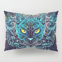 Cat Mandala Pillow Sham by printapix