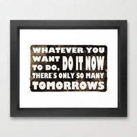 Do it now Framed Art Print by Nicklas Gustafsson | Society6
