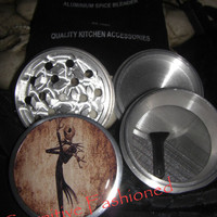 Jack Skellington Retro Nightmare Before Christmas 4 Piece Grinder Herb Spice