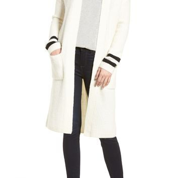 Halogen® Long Open Front Cardigan (Regular & Petite) | Nordstrom