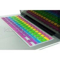 """Kuzy - Rainbow Keyboard Cover Silicone Skin for MacBook Pro 13"""" 15"""" 17"""" (with or w/out Retina Display) iMac and MacBook Air 13"""" - Rainbow"""
