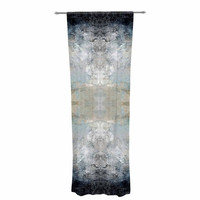 "Pia Schneider ""Heavenly Bird III"" Blue Pattern Decorative Sheer Curtain"