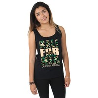 California Republic Vintage Camo Women's Tank Top
