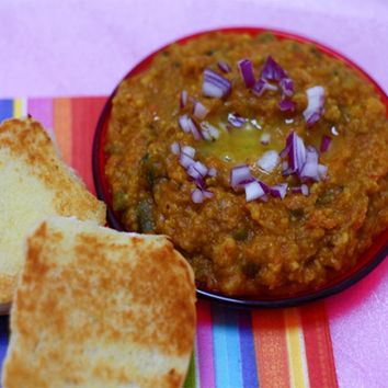 Recipes - Pav Bhaji (Without Potatoes) Classic Indian Roadside Dish