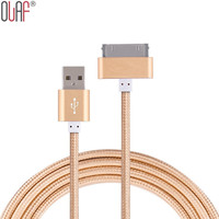 Original 1m USB Metal Nylon Braided Sync Data Charging Charger Cable for iphone 4 4s iPad 2 3 iPod