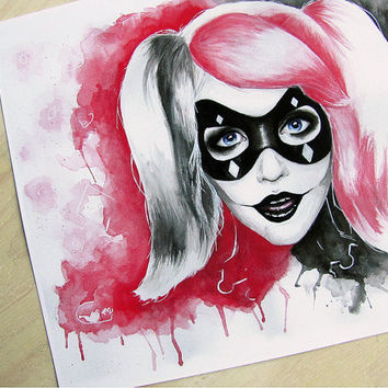 Harley Quinn Art Print - Batman Fan Art