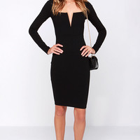 LULUS Exclusive Chic and Loving It Black Midi Dress