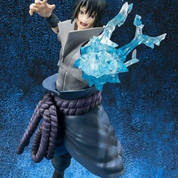 15cm Naruto Shippuden Uchiha Sasuke Action Figures Anime PVC brinquedos Collection Model toys with Retail box Free shipping