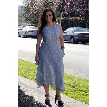 Italian Linen Dress by Inizio - Haley Striped