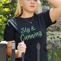 Sly and Cunning T-Shirt. House Pride Shirt. Unisex Sizing.