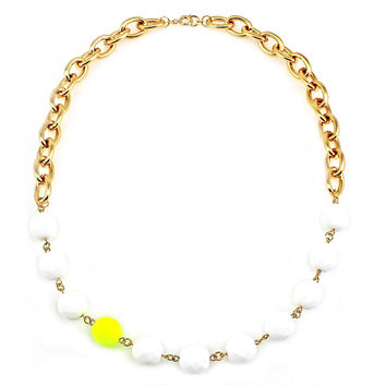Yellow Neon Statement Necklace