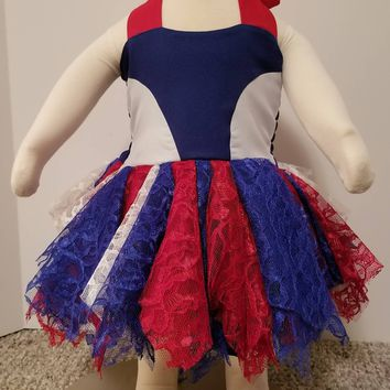Red, white and Blue Lace Dress
