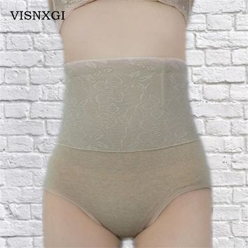 Women Shapers High Waist Panties Plus Size Corset Panties Breathable Trigonometric Shapewear Slim Shaping Shaper Underwear N001