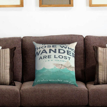 tolkien wander Pillow Cover , Custom Zippered Pillow Case One Side Two Sides
