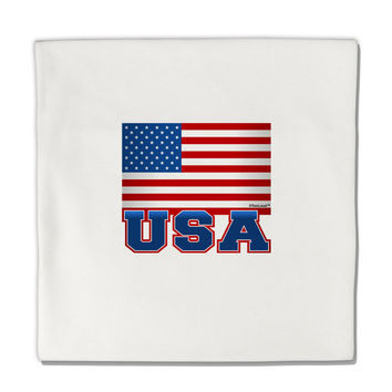 "USA Flag Micro Fleece 14""x14"" Pillow Sham"