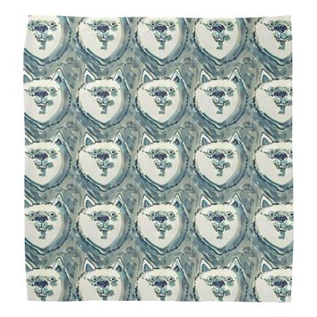 the dogs face smiling tiled pattern bandana