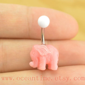 Elephant Belly Button Rings,cute elephant Navel ring,belly button jewelry,friendship bellyring,oceantime