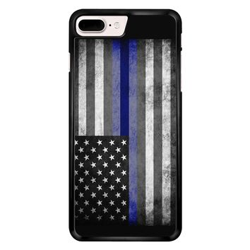 The Thin Blue Line American Police Officer iPhone 7 Plus Case