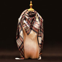 Za Winter Scarf Luxury Brand Tartan Cashmere Scarf Women Wool Plaid Blanket Scarf Pashmina Wrap Shawls and Scarves Hijab