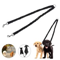 Nylon Elastic Dog Collar Belt Dog Pet Lead Leash Traction Rope Double Head Adjustable Training Dog Lead Harness