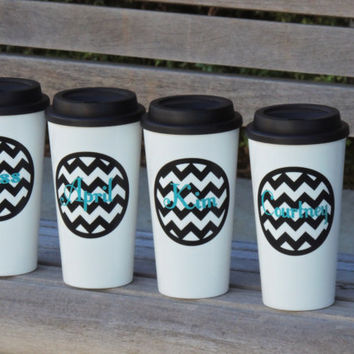 insulated coffee cup, personalized tumbler, personalized coffee cup, plastic coffee cup, tumbler, monogrammed coffee cup, stocking stuffer