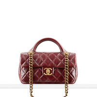 Flap bag in calfskin with handles... - CHANEL