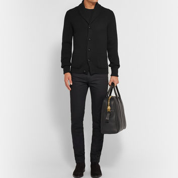 Tom Ford - Shawl-Collar Ribbed Wool Cardigan | MR PORTER