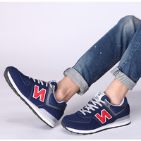 Fashion Casual All-match Male N Words Breathable Mesh Surface Sneakers Shoes Running shoes