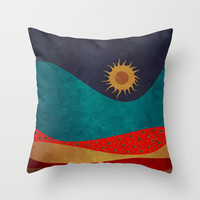 color under the sun Throw Pillow by Viviana Gonzalez