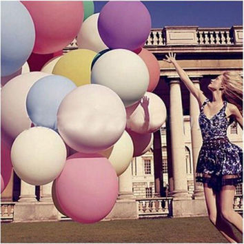 New 5PCS/lots 36 inch clear balloons ,transparent balloons , wedding/party/brithday decoration giant balloon Inflatable Toy