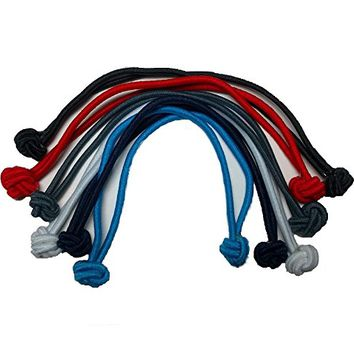 Knotted Hair Tie Set of 6 // great for natural hair, dreadlocks and thick hair (Classic Colors)