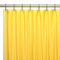 "Heavy Duty Vinyl Shower Curtain with Metal Grommets - 70"" x 72"" (Yellow)"