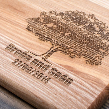 Chopping Boards, Personalized Cutting Board, Engraved Wood, Wedding Gift, Personalized Gifts, Family Tree