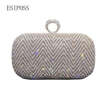 2018 New Ladies Wedding Bag Handmade Minaudiere evening bag Hot High Quality Drill Tassel Diamond Rhinestone Crystal Day Clutch
