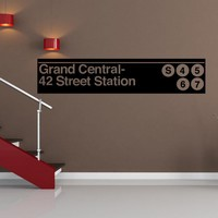 Vinyl Wall Decal Sticker Grand Central Station Subway Sign #1286