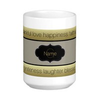 Spiritual Fruits Thankful Happiness Love Joy Peace Classic White Coffee Mug