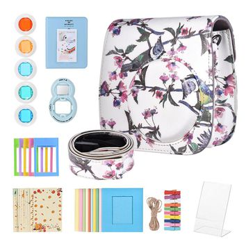 8 in 1 Accessories Kit for Fujifilm Instax Mini 8/8+/8s/9 w/Camera Case/Strap/Selfie Mirror/Filter/Album/Photo Frame/Sticker etc