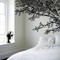 Amazing Headboard - Under an Oak Willow Tree - Nature Inspired - Vinyl wall art decals stickers by 3rdaveshore
