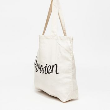 Maison Kitsune Parisien Tote Bag in Ecru