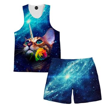 Unicat Tank and Shorts Rave Outfit