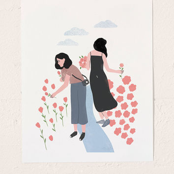 Tallulah Fontaine Sisters Art Print | Urban Outfitters