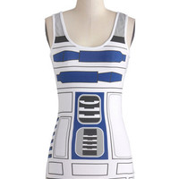 Sci-fi Mid-length Tank top (2 thick straps) You R2 Cute Top