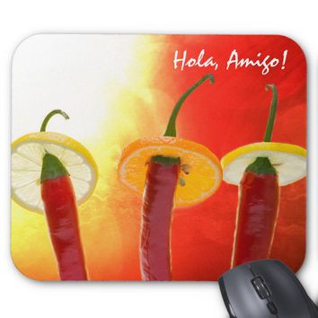 The Red, The Hot, The Chili Mouse Pad