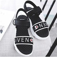 2018 Givenchy X FILA X Champion Trending Women Stylish Casual Sandal Slipper Shoes Black I12231-1