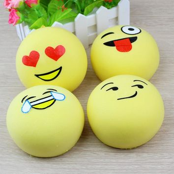1 x Kawaii Jumbo Squeeze Emotion Emoji Squishy Slow Rising Stretchy, Phone Strap