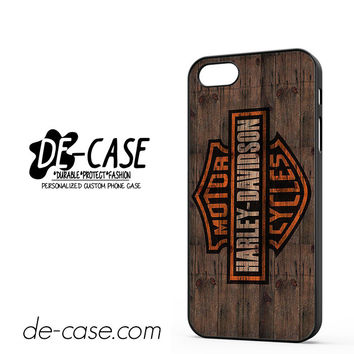 Harley Davidson On Wood DEAL-5051 Apple Phonecase Cover For Iphone 5 / Iphone 5S