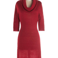 Solid Friend Dress in Red